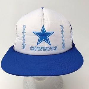 Vtg Dallas Cowboys NFL Mesh Snapback Trucker Hat
